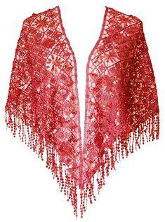 de3039de1250c 1920s style Ruffle Sequins Evening Scarf Shawls A25  25.99 AT  Vintagedancer.com 1920s Outfits