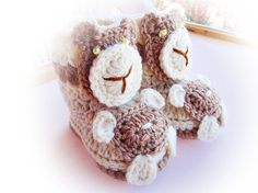 Baby Boots Crochet Pattern 02 by Lambeee on Etsy