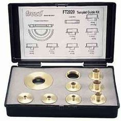 #Freud Bushing Template Guide Kit  9 Piece Set @onlinetoolstore Router Accessories, Power Tool Accessories, Cozy House, Garden Tools, Hanger, Home Improvement, Kit, Templates, Cool Stuff