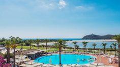 resort pool and palms