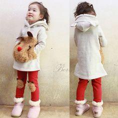 New Children's Clothing Sets Winter Warm Girl Clothes Thicken Fleece Sweatshirt Leggings Suit Cartoon Panda Kids Coat Pnats Set-in Clothing Sets from Mother & Kids on Aliexpress.com   Alibaba Group
