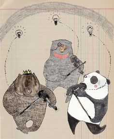 Dancing Bears (Digital Print). -Alice Gabb