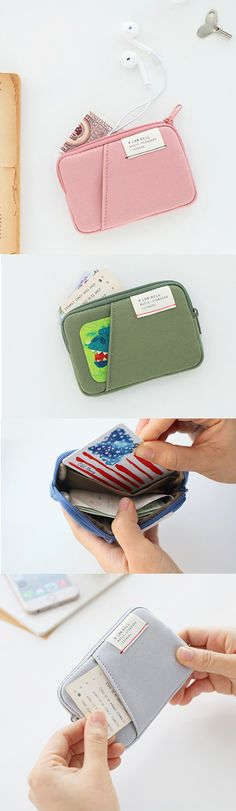 Super cute! A mini colorful card case for all your cards, cash, and other mini things! ^.~*