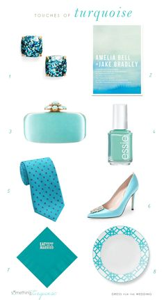 Wedding Style Ideas Turquoise wedding details by Dress for the Wedding for Something Turquoise Blue Wedding, Wedding Colors, Wedding Styles, Blue Color Schemes, Aqua Color, Wedding Inspiration, Design Inspiration, Wedding Ideas, Blue Bridesmaid Dresses