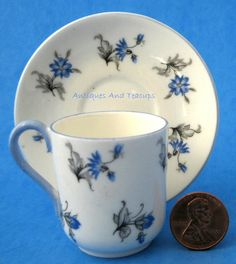Shelley China England Mini Blue Charm Cup by AntiquesAndTeacups