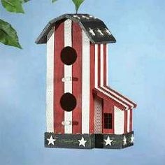 patriotic birdhouse (idea)