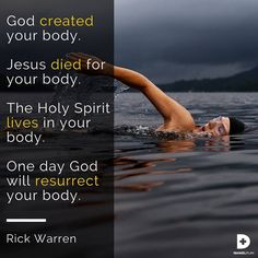 God has a lot to say about the importance of the body he gave you. In the Bible, we learn five radical truths about our bodies that run counterculturally to everything you hear today. God created your body, and he expects you to use it the way he intended for it to be used.