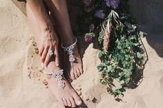 Cronulla beach wedding foot Jewelry
