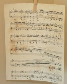 The Decorating Diaries: Make Your Own Antique Sheet Music