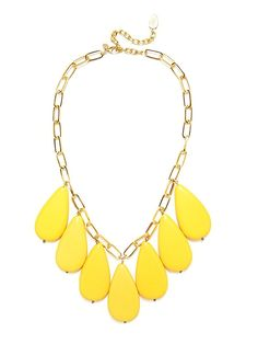 I think I need this Beaded Jewelry, Jewelry Box, Vintage Jewelry, Jewelry Necklaces, What's My Favorite Color, Mellow Yellow, Bright Yellow, Mint Green, Yellow Necklace