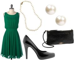 The emerald green dress is fabulous! It totally reminds me of Grace Kelly!