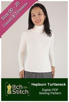 Hepburn Turtleneck is a timeless classic that has swept worldwide since Audrey Hepburn brought it to the silver screen in the 1950s. Hepburn Turtleneck represents simplicity and elegance, and it will pair well with a variety of pants and skirts while keeping you cozy on chilly days.  Hepburn Turtleneck Features:  	Options for long and three-quarter sleeves 	Double-layered turtleneck 	Close-fitting to accentuate your figure 	Layers feature--print only the sizes you need  Skill…