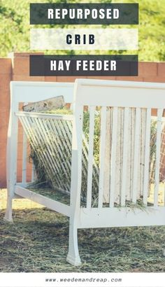 Homemade Hay Feeder (from FREE materials) - Weed 'em & Reap <br> You wanna know what's better than a diy hay feeder? A homemade hay feeder made COMPLETELY from re-purposed, free, materials! Diy Hay Feeder, Cow Feeder, Sheep Feeders, Goat Hay Feeder, Horse Feeder, Goat Playground, Playground Ideas, Hay Feeder For Horses, Goat Shelter