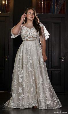 Flattering Wedding Dress, Plus Size Wedding Gowns, Wedding Dress Sleeves, Boho Wedding Dress, Dream Wedding Dresses, Wedding Attire, Bridal Dresses, Gown Wedding, Curvy Bride