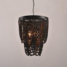KunMai Industrial Loft Style 4-Light LED Linear Rust//Black Wood /& Metal Island Pendant Light Rust