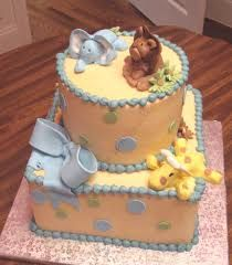 animal baby shower cake - Google Search