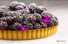 "9"" butter tart with blackberries"