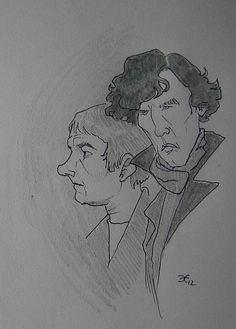 Watson (Martin Freeman) & Sherlock (Benedict Cumberbatch) BBC 2012