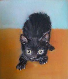 Cat Paintings, Artist Signatures, Paper Frames, Contemporary Artists, Austria, Original Art, Royalty, Museum, Kitty