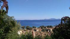 View over Barbati bay Corfu