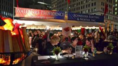 Nortek, Inc. and Schneider Electric partnered with WaterFire Providence for a lighting