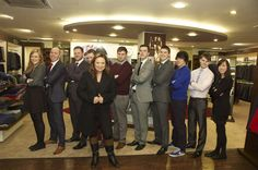 Presenter Norah Casey and the staff of Eddie Murphy Menswear, Ballyhaunis, Co. Mayo.
