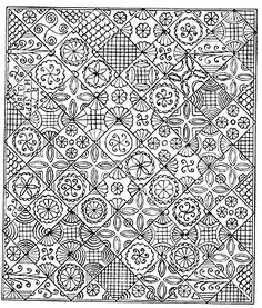 Cindy Needham: Quilting with vintage lace/linens   Quilting ... : whole cloth quilt stencils - Adamdwight.com