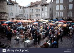 Market, Villefranche de Rouergue, Languedoc, France Stock Photo Adrian Turner, Street View, France, Stock Photos, Marketing, Image, French