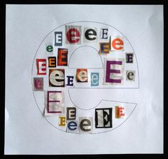 Good time filler for our stations (maybe the letter c for caterpillar to go along w our theme) Alphabet Crafts, Alphabet For Kids, Letter A Crafts, Learning Letters, Fun Learning, Learning Activities, Preschool Writing, Preschool At Home, Alphabet Activities