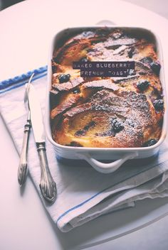 baked_blueberry_french_toast_gnam. Blueberry French Toast, French Toast Bake, Crepes, Pancakes, Delish, Food Photography, Muffins, Baking, Puddings
