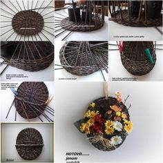 DIY woven hanging planter/basket for home or garden tutorial, instruction.  Follow us: http://on.fb.me/1rWIbQo