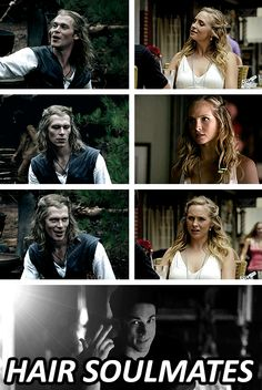 Klaus and Caroline . . . Hair Soulmates LOOOL