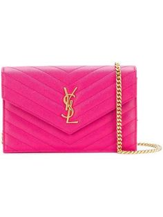 Saint Laurent Chain Wallet 2018 Small Monogram Woc Pink Leather Cross Body  Bag 10c25efd6a