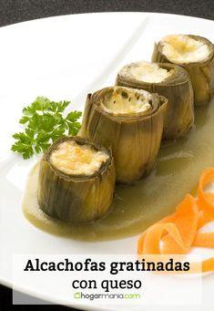 Receta de Alcachofas gratinadas con queso