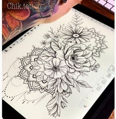Tattoo Sketches Mandala Design 62 Ideas For 2020 Leg Tattoos, Body Art Tattoos, Small Tattoos, Sleeve Tattoos, Cool Tattoos, Floral Thigh Tattoos, Maori Tattoos, Tatoos, Mandala Tattoo Design