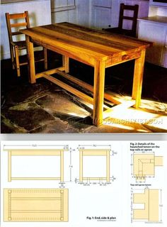 Traditional Irish Table Plans - Furniture Plans and Projects | WoodArchivist.com