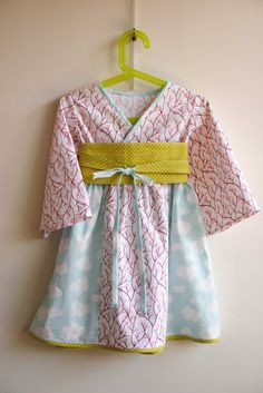 Toddler Kimono dress with link to pattern