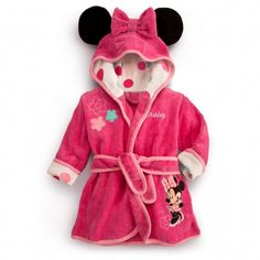 MINNIE MOUSE Bath Robe. I am dying from the cuteness.