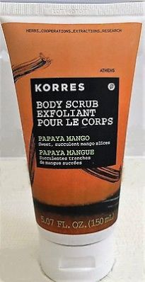 cool KORRES Body Scrub Exfoliant Papaya Mango Sealed 5.07oz - For Sale