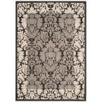 Courtyard Black/Sand (Black/Brown) 6 ft. 7 in. x 9 ft. 6 in. Indoor/Outdoor Area Rug