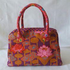 Handbag kaffe fassett bag ladies bag by MagicThreadByNatalia