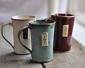 Coffee Mug or Tea Cup - Handbuilt...from JUST POTTERS - Vancouver Pottery Studio