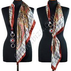 Как носить шарф или платок