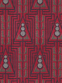 Fabrics Wiener Werkstatte by Backhausen Fabrics, Rugs, Store, Decor, Triangles, Angel, Tejidos, Farmhouse Rugs, Decoration