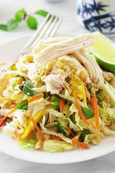 Saigon Chicken Salad - Savor the Best Meat Salad, Chicken Salad, Lebanese Garlic Sauce, Sandwich Fillers, Healthy Crisps, Diet Recipes, Healthy Recipes, Lime Vinaigrette, Asian Recipes