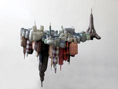 Paris New-York / sculpture textile / 2010