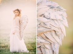 Gorgeous Wedding Dress With Angel Wings - Quantify the measurements of the gown since it truly is to get framed. Wedding robes refer person collection in Dreamy Photography, Cosplay, Gorgeous Wedding Dress, Green Wedding Shoes, Bridal Portraits, California Wedding, Wedding Trends, Costume Design, Studio