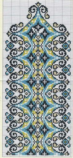 Just Cross Stitch, Cross Stitch Borders, Cross Stitch Flowers, Loom Patterns, Embroidery Patterns, Cross Stitch Patterns, Geometry Pattern, Mandala Pattern, Cross Stitch Embroidery