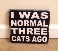 Crazy Cat Lady Sign wood wall art by MittenMadeDesigns on Etsy
