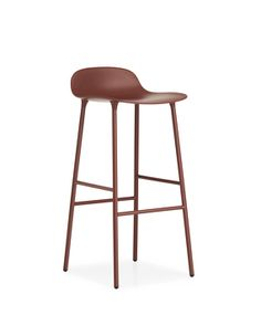 Tabouret de bar Form 75cm Acier | Rouge - Normann Copenhagen